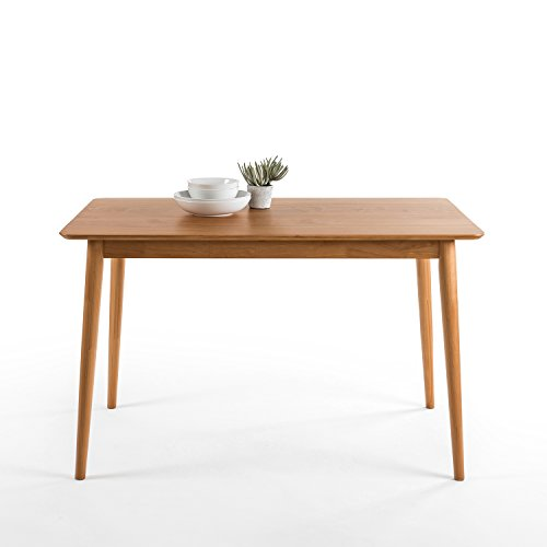 zinus mid century modern wood dining table natural diningbee diningbee. Black Bedroom Furniture Sets. Home Design Ideas
