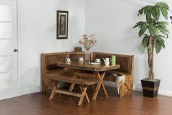 Sunny Designs 0222RO Sedona Breakfast Nook Set with Side Bench