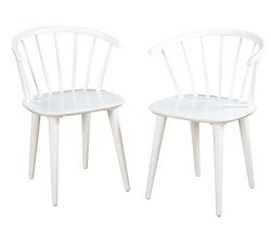 Target Marketing Systems Set of 2 Florence Dining Chairs with Low Windsor Spindle Back, Set of 2 ...