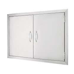 Happybuy BBQ Access Door 30.5″W x21″H Double BBQ Island Door 304 Stainless Doors Dou ...