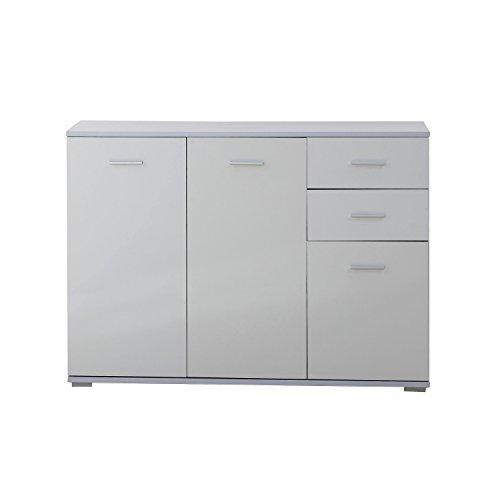 Homcom Modern High Gloss Side Cabinet Table Sideboard