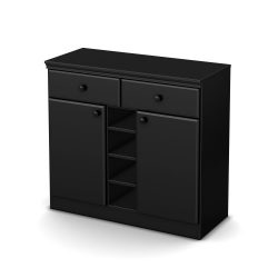 South Shore Morgan Sideboard, Pure Black