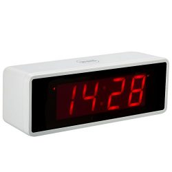 """Kwanwa Portable Electric Alarm Clock With Large 1.4"""" Red LED Numbers Display Battery Opera ..."""