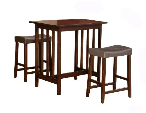 Homelegance Scottsdale 3 Piece Counter Table And Stools