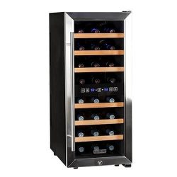 Koldfront TWR247ESS24 Bottle Free Standing Dual Zone Wine Cooler – Black and Stainless Steel