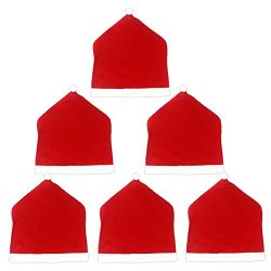 Lalago Christmas Santa Hat Chair Back Covers,Set of 6