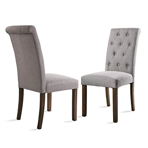 Dining Chair Set 2 Pair Accent Tufted Kitchen Modern Side: Merax Button-tufted Upholstered Accent Dining Chair Modern