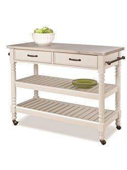 Home Styles 5219-95 Savanna Kitchen Cart, White Finish