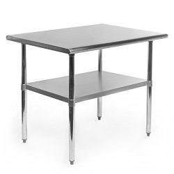 Gridmann Stainless Steel Commercial Kitchen Prep & Work Table – 36 in. x 24 in.