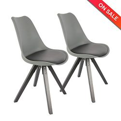LCH Soft Padded Seat Dining/Living Room Chairs, Modern and Body Engineering Design Chairs with S ...