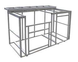 Cal Flame 6′ Outdoor Kitchen Island Frame Kit with Bartop