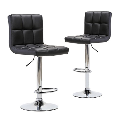 3 Bar Stools High Seat Chairs Adjustable Swivel Counter: Adjustable Modern Swivel Bar Stools