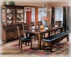 Ashley Furniture Signature Design – Larchmont Dining Room Table – Old World Style &# ...