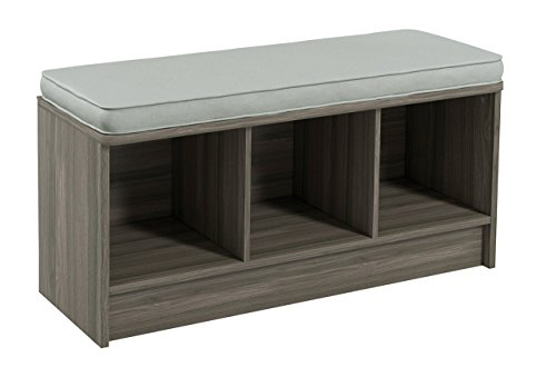 Closetmaid 3258 Cubeicals 3 Cube Storage Bench Natural