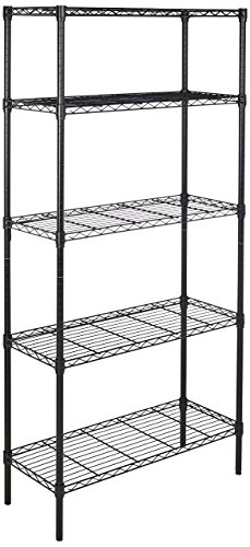 AmazonBasics 5-Shelf Shelving Unit – Black