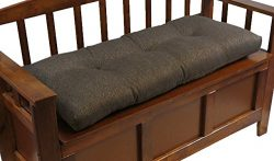 The Gripper Non-Slip Tufted Omega Universal Bench Cushion, 36″, Chestnut