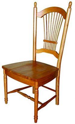 Sunset Trading Allenridge Dining Chair, Set of 2, 44″, Light Oak