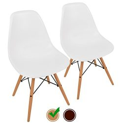 Eames Style Chairs by UrbanMod (Set Of 2). The 'Easy Assemble' Eames Chair Replica With ErgoFlex ...