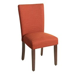 Kinfine Parsons Upholstered Accent Dining Chair, Single Pack, Orange
