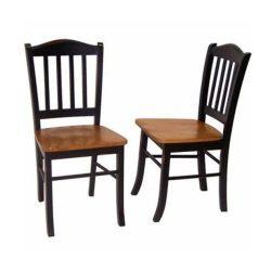 Boraam 30536 Shaker Chair, Black/Oak, Set of 2