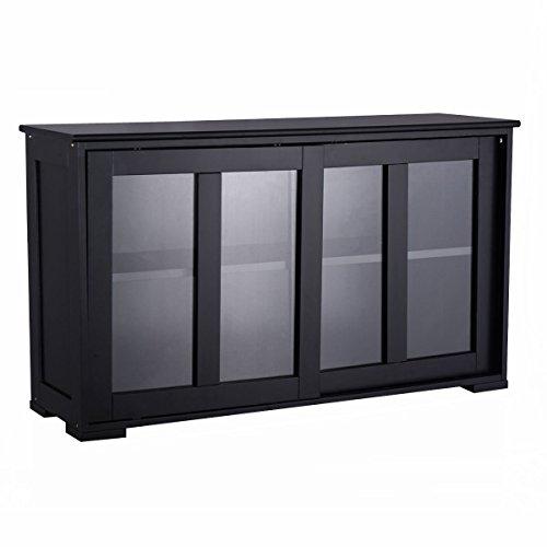 Sliding Glass Doors Buffet ~ Costzon storage sideboard home kitchen cupboard buffet