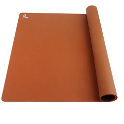 Super Kitchen Food Grade Silicone Extra Large Pastry Mat Baking Mat 23.4 By 15.6 Inches Chocolate