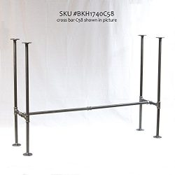 H40″, Rusty Design, BKH1740C58 Pipe Legs KIT with Cross Bar for Bar Height Pub Table, H-Sh ...