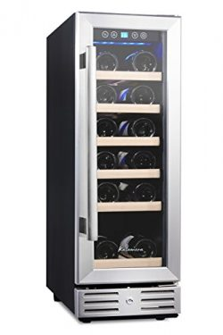 "Kalamera 12"" Wine refrigerator 18 Bottle Built-in or Freestanding with Stainless Steel &am ..."