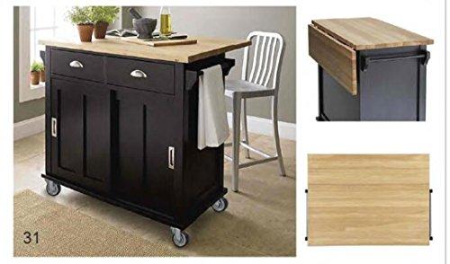 oliver and smith nashville collection large space saving drop leaf mobile kitchen island. Black Bedroom Furniture Sets. Home Design Ideas