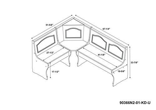 Linon Chelsea Kitchen Nook Corner Unit Diningbee Diningbee
