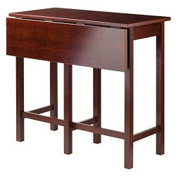 Winsome Wood Lynnwood Drop Leaf High Table, Walnut