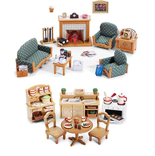 Calico Critters Deluxe Living Room Set And Deluxe Kitchen