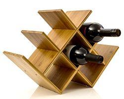 Wine Rack Wine Holder Wine Storage 8 Bottle Rack Horizontal Storage Compact Design Made of Organ ...
