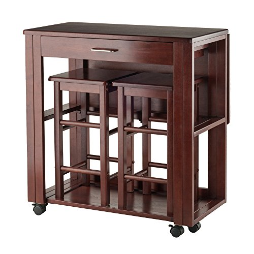 Winsome Wood Fremont 3 Piece Space Saver Set Diningbee