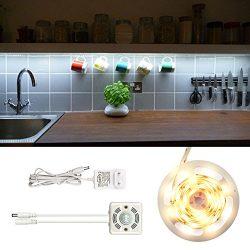 Kitchen LED Under Cabinet Light Strip with PIR Motion Sensor, 80 watts Equivalent, Daylight Whit ...