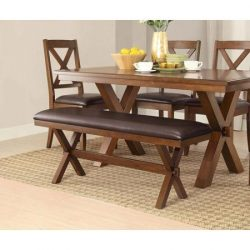Adjustable Better Homes and Comfortable Gardens Maddox Crossing Dining Perfect Bench, Espresso D ...