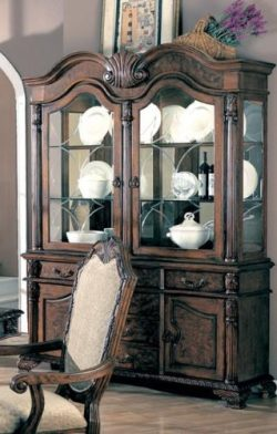 Coaster 100134 Dining Buffet And Hutch China Cabinet Deep Brown Finish