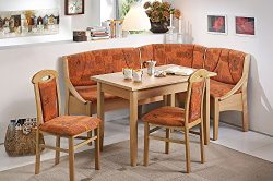 Modern Home and Kitchen Breakfast Nook, The Santiago Dining Set in a Terra Cotta. This Dining Ro ...