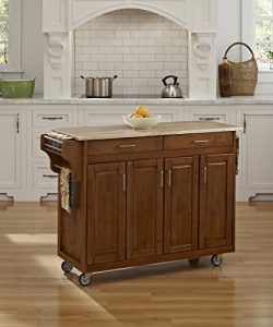 Home Styles 9200-1061 Create-a-Cart 9200 Series Cabinet Kitchen Cart with Wood Top, Cottage Oak  ...
