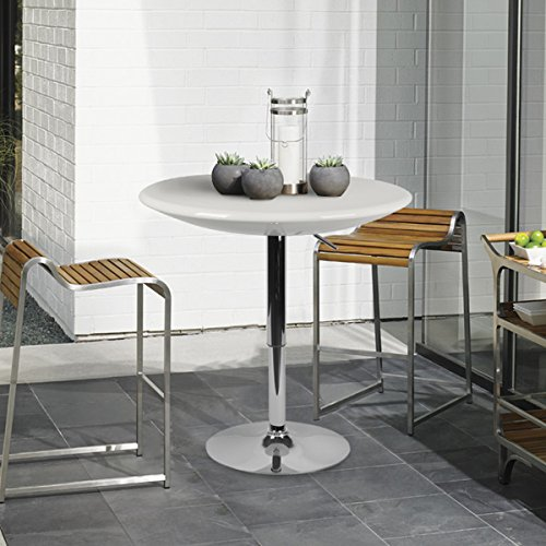 """lch 236"""" top adjustable dining bar table modern round"""