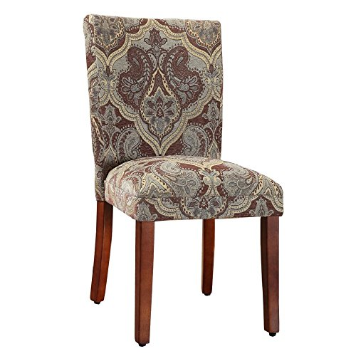Leahlyn Reddish Brown Arm Chair Set Of 2: Kinfine N6354-F827 Dining Chair Parsons Classic, Set Of 2