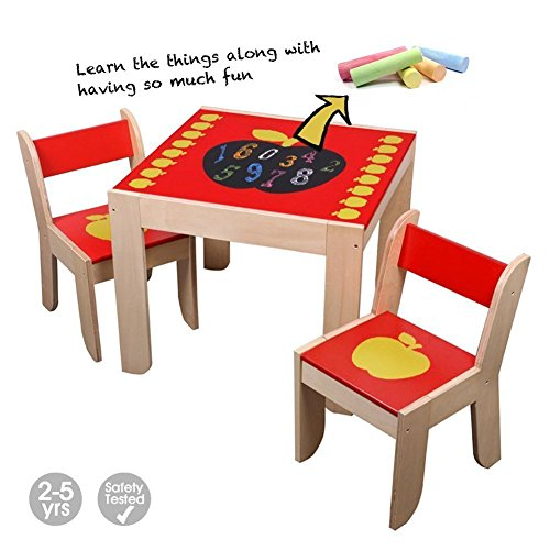 Labebe Wooden Activity Table Chair Red Apple Toddler  : 51NGk F31L from www.diningbee.com size 500 x 500 jpeg 39kB