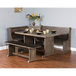 Sunny Designs Homestead Breakfast Nook with Side Bench