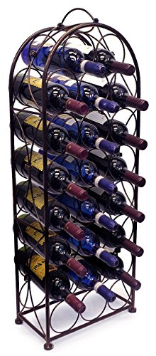 Sorbus Wine Rack Bordeaux Chateau Style – Holds 23 Bottles – No Assembly Required (B ...