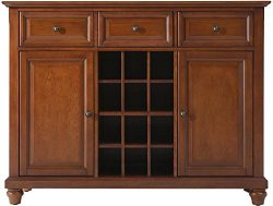 Crosley Furniture Cambridge Wine Buffet / Sideboard – Classic Cherry
