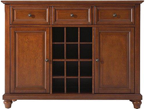 Crosley Furniture Cambridge Wine Buffet / Sideboard – Classic Cherry