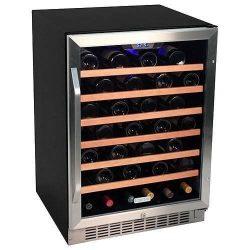 EdgeStar CWR531SZ 24 Inch Wide 53 Bottle Built-In Wine Cooler – Stainless Steel/Black