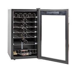 SMETA 35 Bottles Wine Cellar Freestanding Champagne Beer Cooler Refrigerator Quiet Operation,39. ...