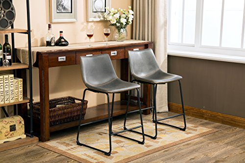 Roundhill Furniture Pc185gy Lotusville Pu Leather Vintage