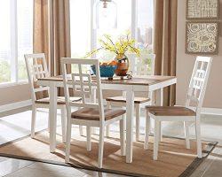 Ashley Furniture Signature Design – Brovada Rectangular 5-Piece Dining Room Set – In ...